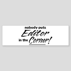 Editor Nobody Corner Sticker (Bumper)