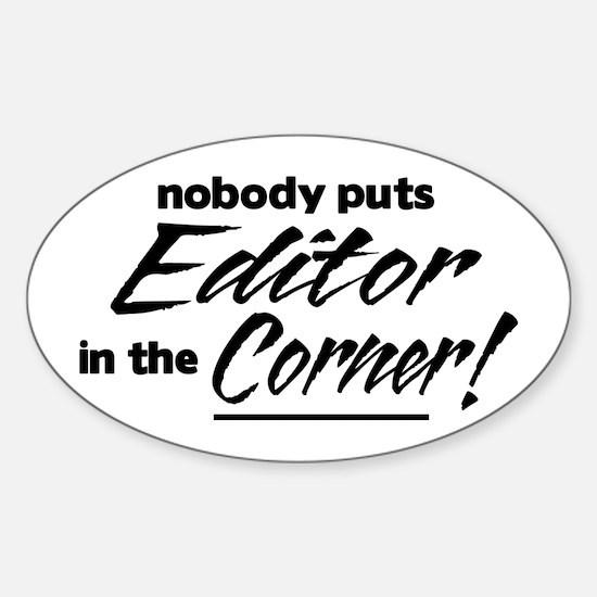 Editor Nobody Corner Sticker (Oval)