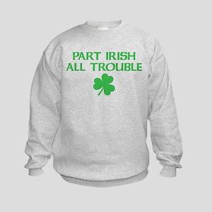 Part Irish All Trouble Kids Sweatshirt