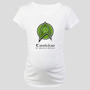 Trekkie St. Patrick Ed. Maternity T-Shirt