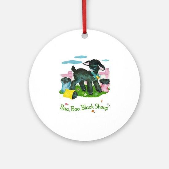Baa Baa Blacksheep Ornament (Round)