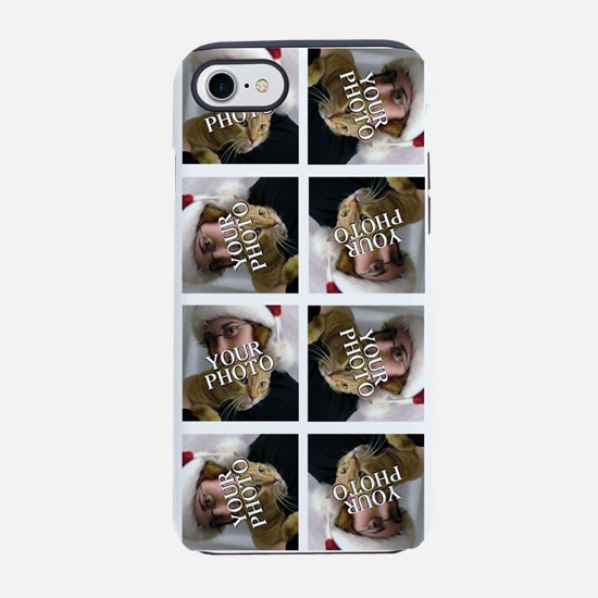 8 PHOTO Collage On White iPhone 7 Tough Case