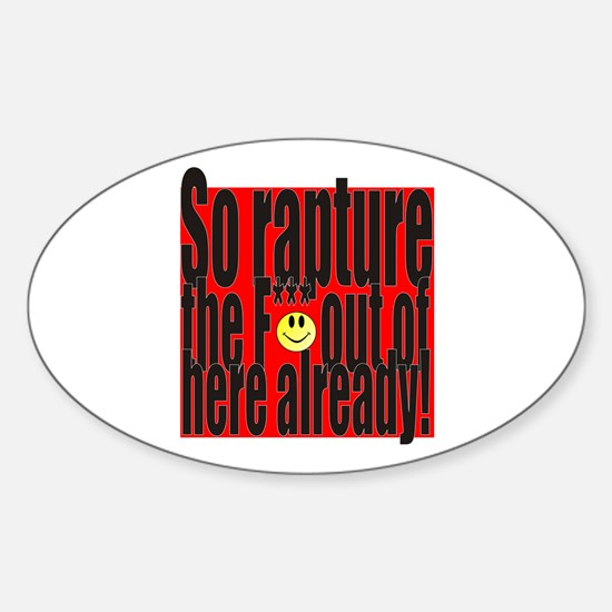 Rapture Sticker (Oval)