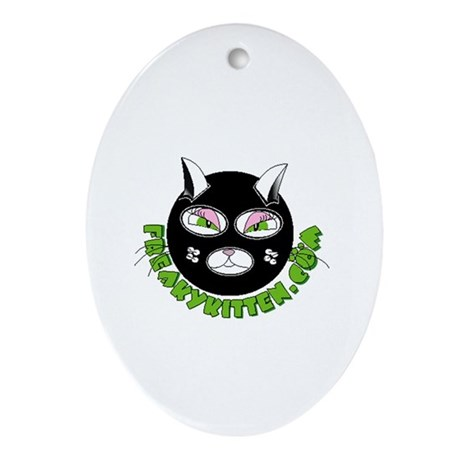 freaky kitten Ornament (Oval)