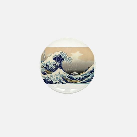 Funny Ocean wave Mini Button