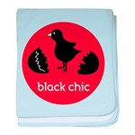 Black Chic baby blanket