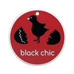 Black Chic Ornament (Round)