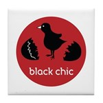 Black Chic Tile Coaster
