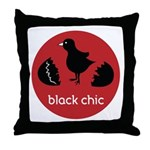 Black Chic Throw Pillow