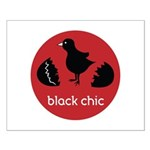Black Chic Small Poster