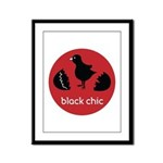 Black Chic Framed Panel Print