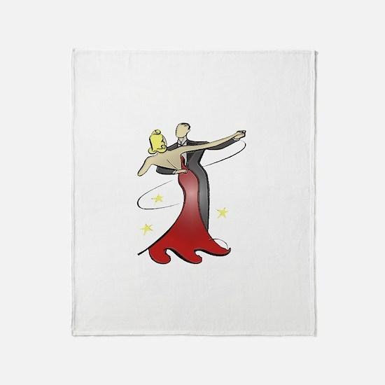 Vintage Ballroom Dancers Throw Blanket