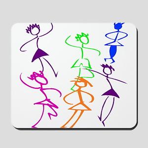 Stick Figures Dancers Mousepad