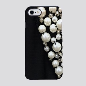 black and white pearl iPhone 7 Tough Case