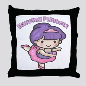 Dancing Princess Throw Pillow