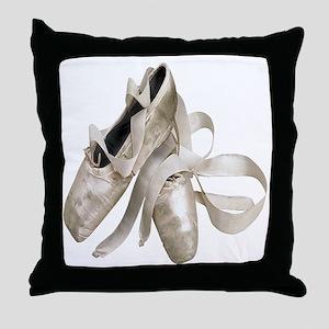 Ballet Slippers Throw Pillow