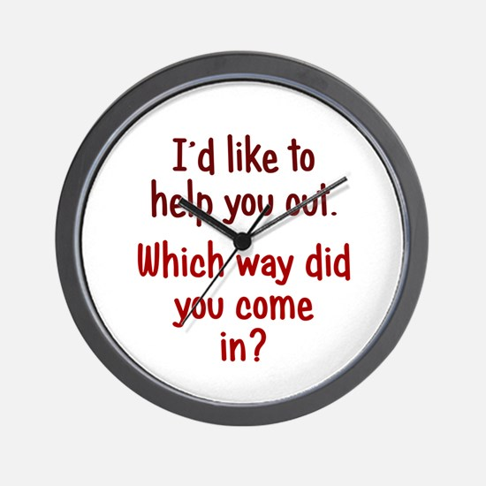 Like to Help You Out Wall Clock