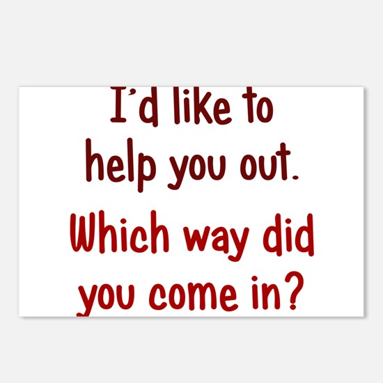 Like to Help You Out Postcards (Package of 8)