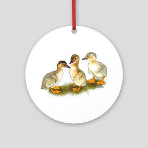Buff Orpington Ducklings Ornament (Round)