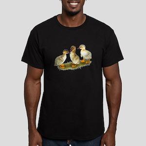 Buff Orpington Ducklings Men's Fitted T-Shirt (dar