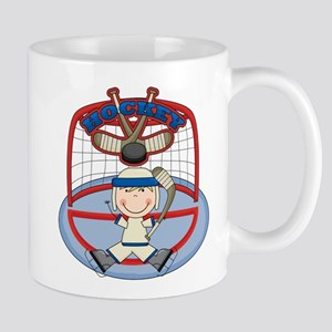Stick Figure Hockey Goalie Mug