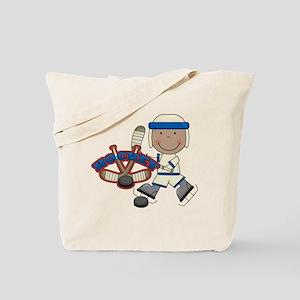 AA Boy Hockey Player Tote Bag