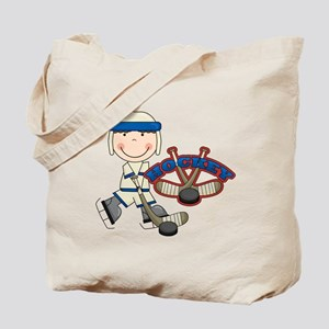 Boy Hockey Player Tote Bag