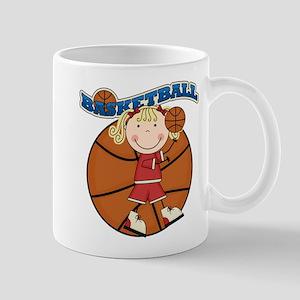 Blond Girl Basketball Mug