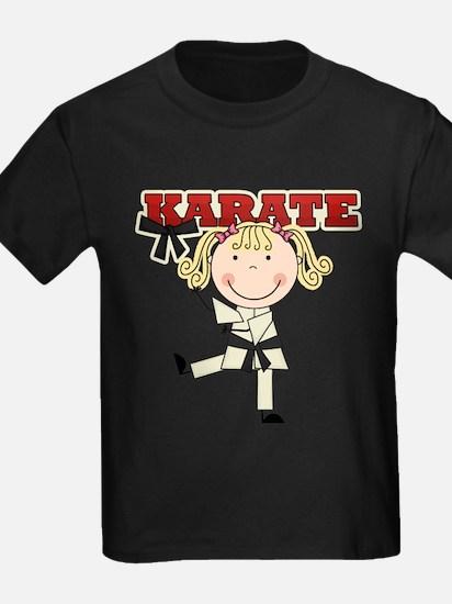 Blond Girl Karate Kid T