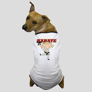 Blond Girl Karate Kid Dog T-Shirt