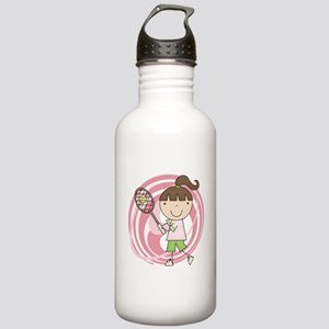Girl Playing Tennis Stainless Water Bottle 1.0L
