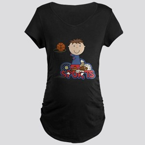 Boy Basketball All Star Maternity Dark T-Shirt