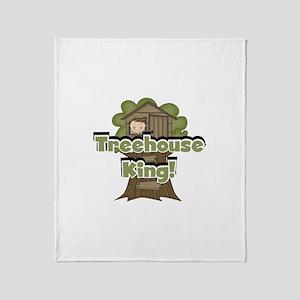 Treehouse King Throw Blanket