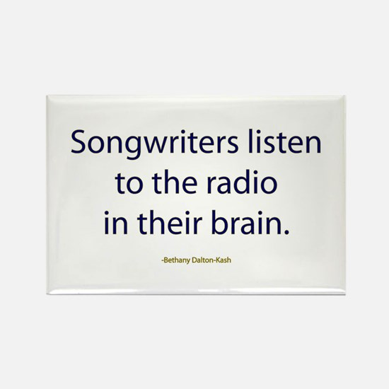 Songwriters Radio Rectangle Magnet