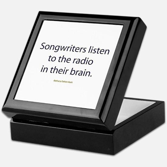 Songwriters Radio Keepsake Box
