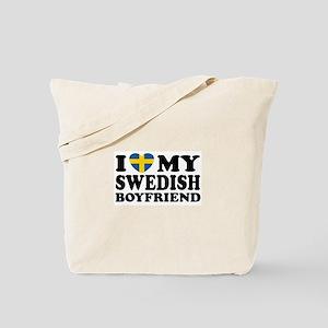 I Love My Swedish Boyfriend Tote Bag