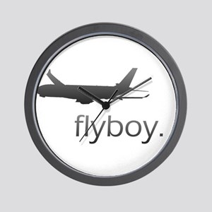 Flyboy Airline Pilot Wall Clock