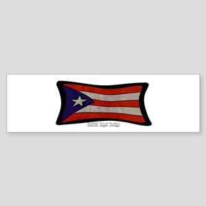 Puerto Rico Flag Graffiti Sticker (Bumper)