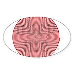 Trance-Obey Me Oval Sticker