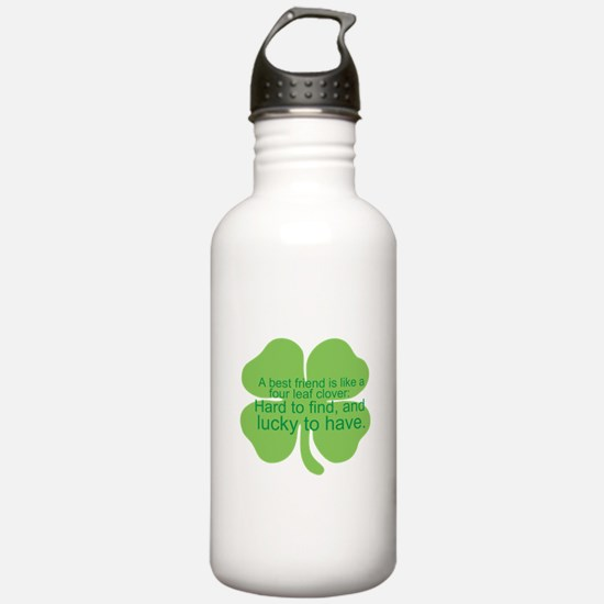 Cute Four leaf clover Water Bottle