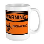 Biohazard Orange Large Mug