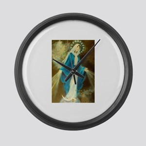 Our Lady of Grace Large Wall Clock