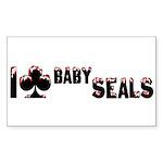 I Club Baby Seals Sticker (Rectangle 10 pk)