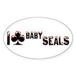 I Club Baby Seals Sticker (Oval 50 pk)