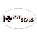 I Club Baby Seals Sticker (Oval 10 pk)