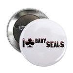 """I Club Baby Seals 2.25"""" Button (100 pack)"""