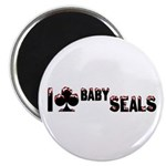 I Club Baby Seals Magnet