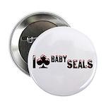"I Club Baby Seals 2.25"" Button"
