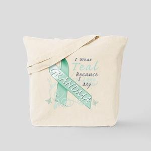 I Wear Teal Because I Love My Grandma Tote Bag