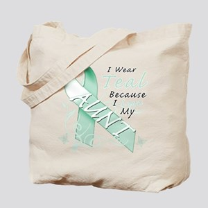 I Wear Teal Because I Love My Aunt Tote Bag